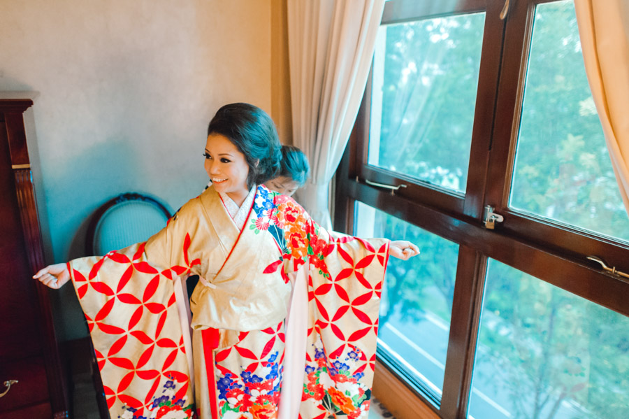 wearing wedding kimono japanese wedding singapore